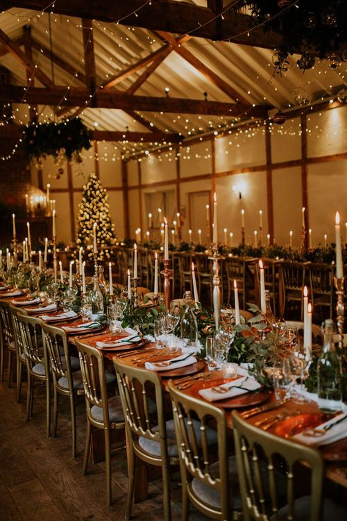 Stunning festive wedding table decor