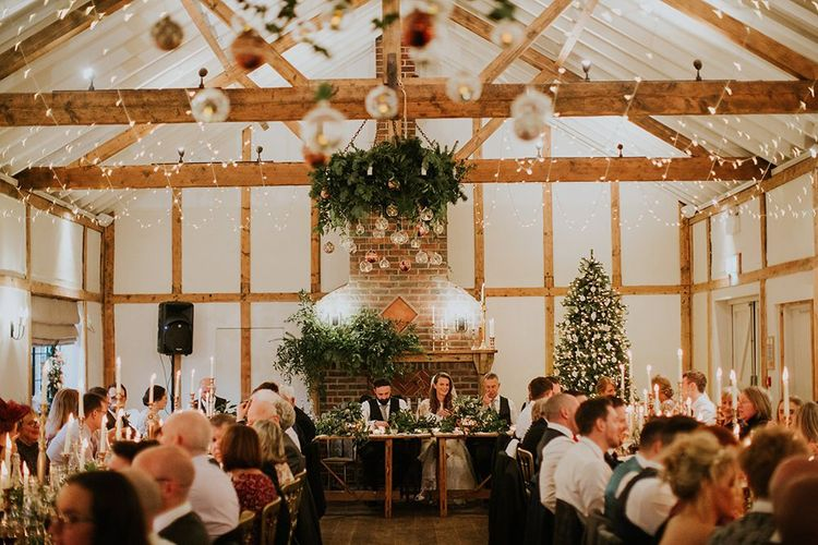 Winter wedding at Burley Manor