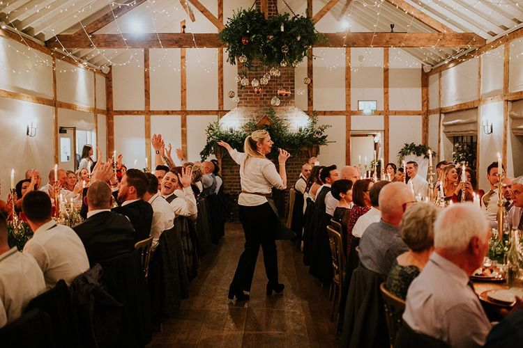 Singing waiters at Burley Manor