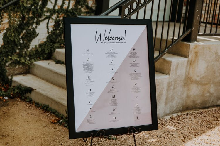 Table Plan | Rifle Paper Co. Trainers for Informal Wedding in Fort Worth, Texas | Paul & Nanda Photography