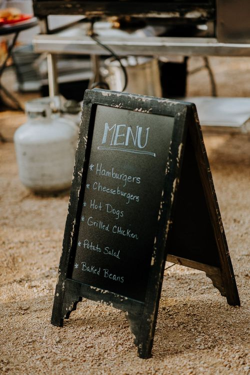Chalkboard Menu | Rifle Paper Co. Trainers for Informal Wedding in Fort Worth, Texas | Paul & Nanda Photography