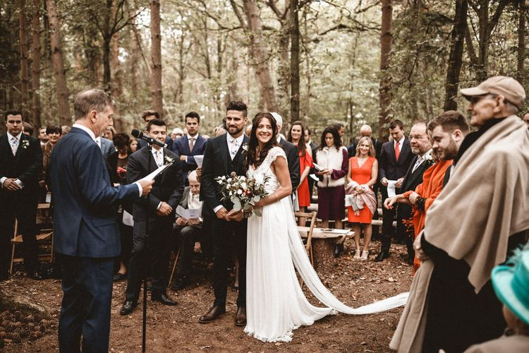 Rustic Wedding With Outdoor Ceremony At Captains Woods Barn With Bride In Coco And Kate Images From Benjamin Wheeler Jay Films
