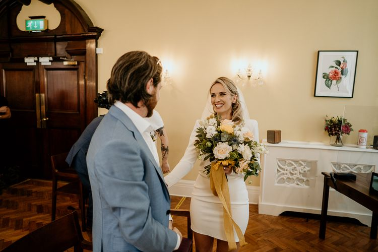 Wedding ceremony at Chelsea Town Hall