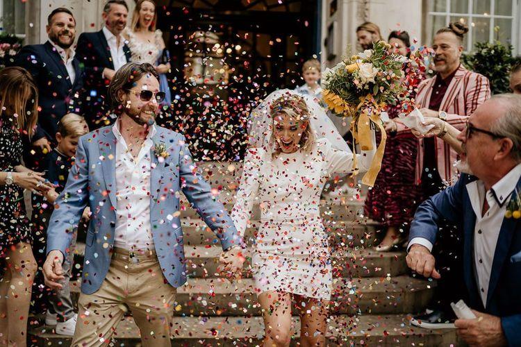 Colourful confetti moment by Elena Popa Photography