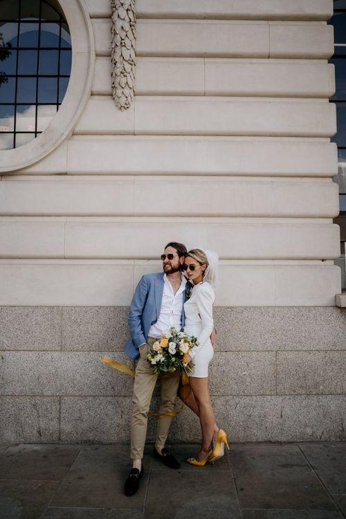 Stylish bride and groom portrait by Elena Popa Photography