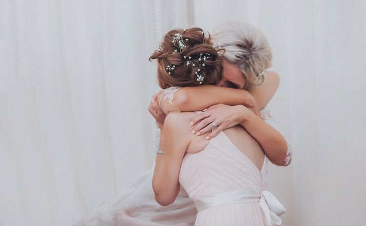 Bride & Bridesmaid // Pink Ruffled Chair Covers For Romantic Pastel Pink Wedding At Dorton House With Bride In La Sposa And Images From Julia & You Photography
