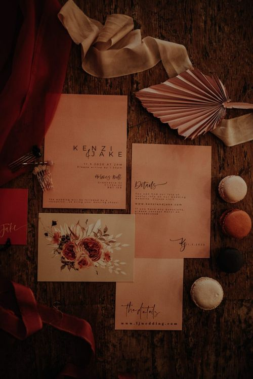 Blush Wonderland Invites  wedding stationery suite