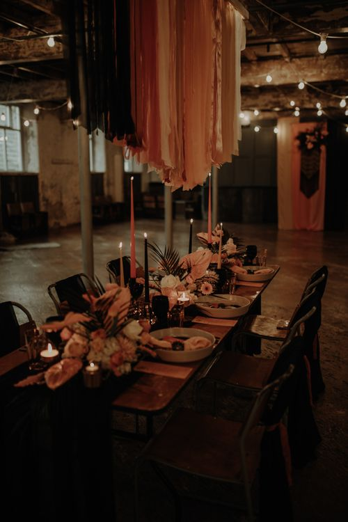 Intimate table setting at Holmes Mill