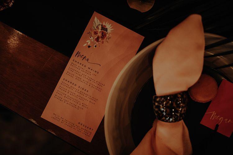 Menu card by Wonderland Invites