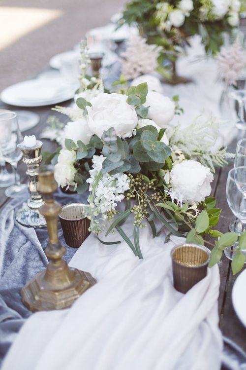 Table Decor by The Wedding of My Dreams | L'heure Opulente - Laid Back French Chic, Paired with Elegant British Twists by Simply Pergord Weddings at Le Jardin à La Française Chateau | Mathilde Dufraisse Photography