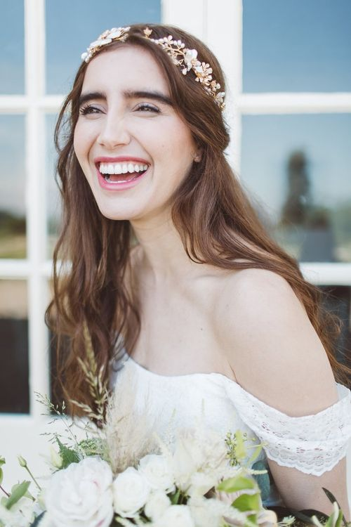 Beautiful Bridal Makeup | L'heure Opulente - Laid Back French Chic, Paired with Elegant British Twists by Simply Pergord Weddings at Le Jardin à La Française Chateau | Mathilde Dufraisse Photography