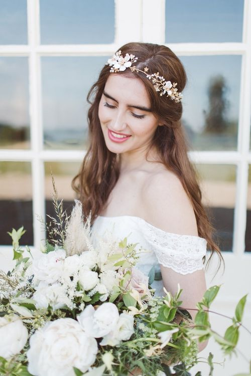 Beautiful Bride | Natural Beauty | Wedding Makeup | L'heure Opulente - Laid Back French Chic, Paired with Elegant British Twists by Simply Pergord Weddings at Le Jardin à La Française Chateau | Mathilde Dufraisse Photography