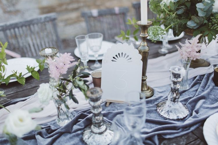 Elegant Table Decor | Candle Sticks | L'heure Opulente - Laid Back French Chic, Paired with Elegant British Twists by Simply Pergord Weddings at Le Jardin à La Française Chateau | Mathilde Dufraisse Photography