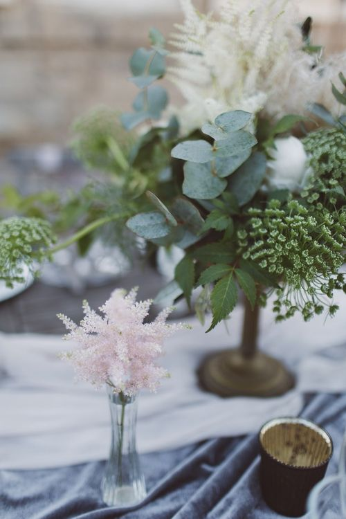 Flower Stems in Vases Wedding Decor | L'heure Opulente - Laid Back French Chic, Paired with Elegant British Twists by Simply Pergord Weddings at Le Jardin à La Française Chateau | Mathilde Dufraisse Photography