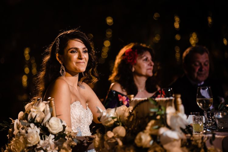 Wedding Speeches // Pampas Grass Altar For A Glamorous Thailand Destination Wedding Planned By The Wedding Bliss Thailand With Images From Liam Collard Photography