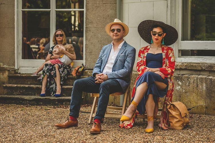 Wedding Guests | Pennard House Outdoor Country Garden Wedding | Howell Jones Photography