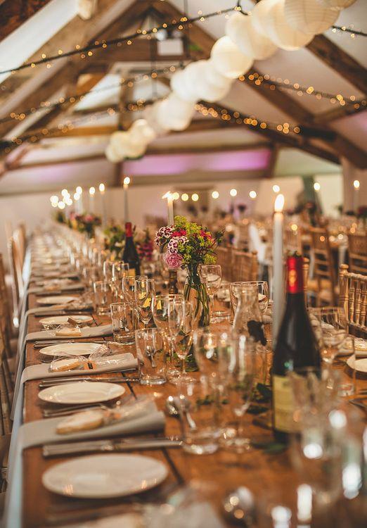 Candle Light | Fairy Lights | Lanterns | Wedding Decor | Pennard House Outdoor Country Garden Wedding | Howell Jones Photography