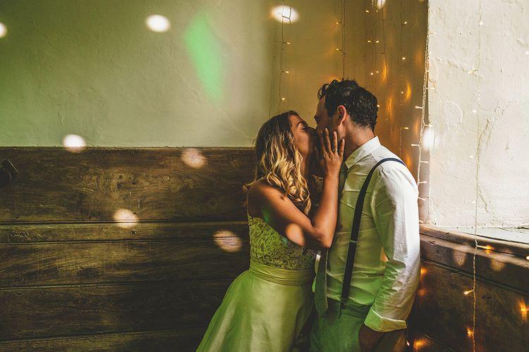 Bride in Separates | Groom in Braces | Pennard House Outdoor Country Garden Wedding | Howell Jones Photography