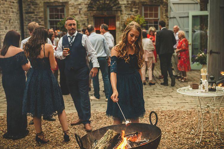 Toasted Marshmallows | Pennard House Outdoor Country Garden Wedding | Howell Jones Photography