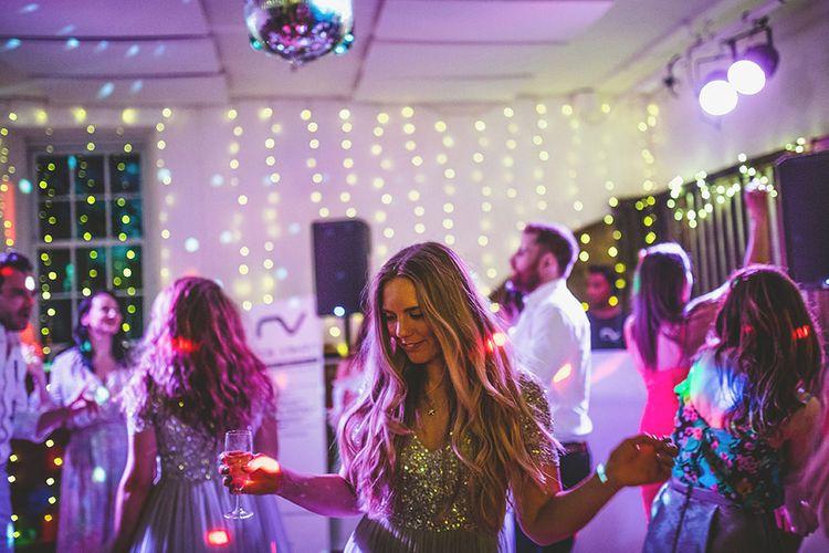 Evening Reception | Bridesmaids in Grey Sparkle ASOS Maya Dresses | Pennard House Outdoor Country Garden Wedding | Howell Jones Photography