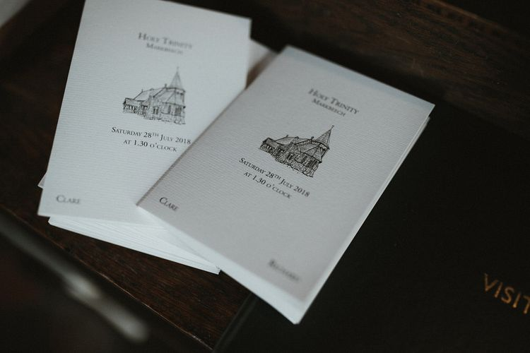 Illustrated Order Of Service For Church Wedding  // James Frost Photography