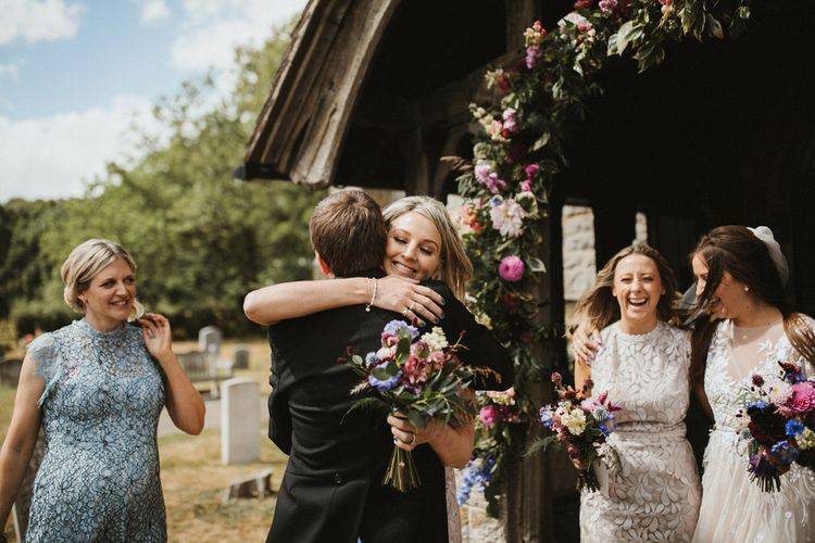 Floral Arch For Church Wedding  // James Frost Photography