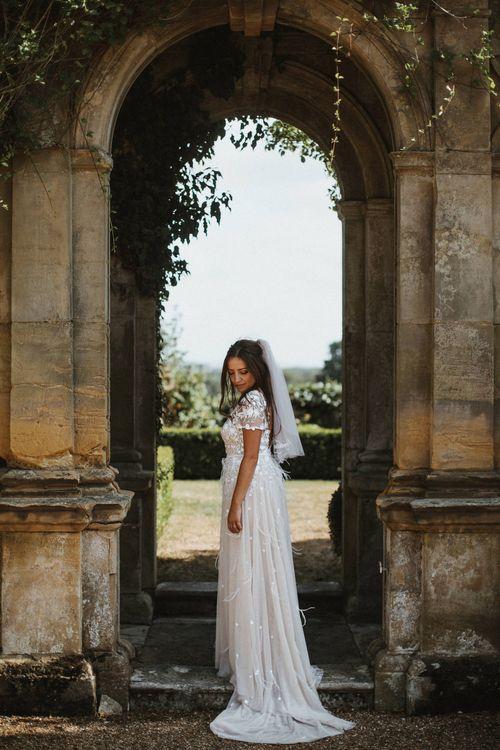Bride In Hermione De Paula Wedding Dress // James Frost Photography