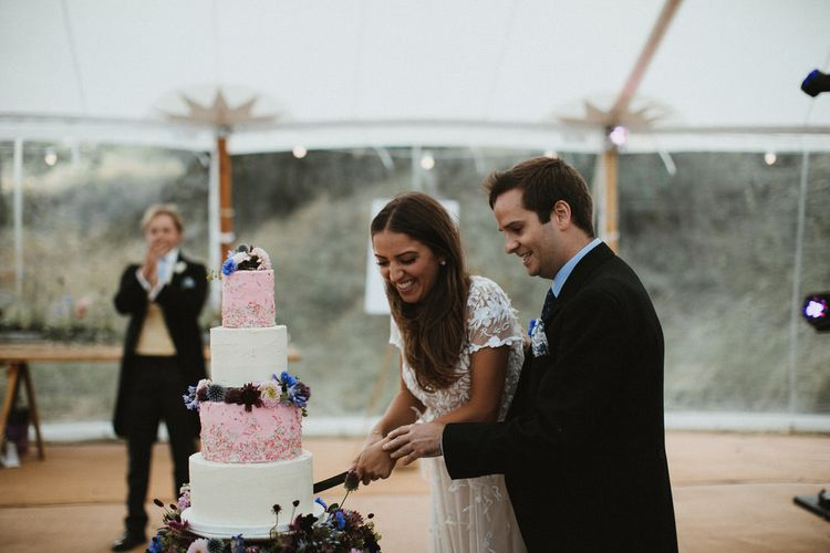 Pink And White Buttercream Sprinkle Cake By Hannah Hickman // James Frost Photography