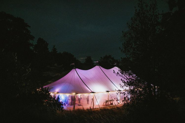 Sailcloth Tent Wedding // James Frost Photography
