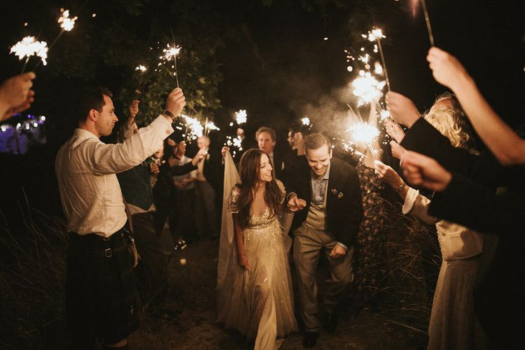 Sparklers At Wedding // James Frost Photography