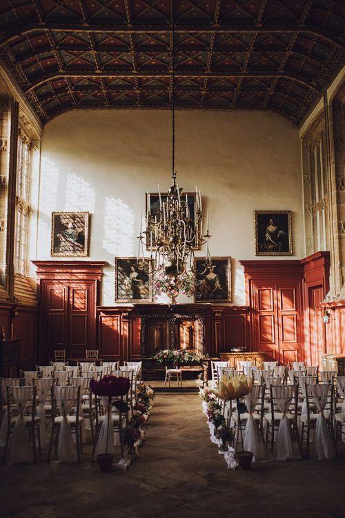 Forde Abbey wedding ceremony