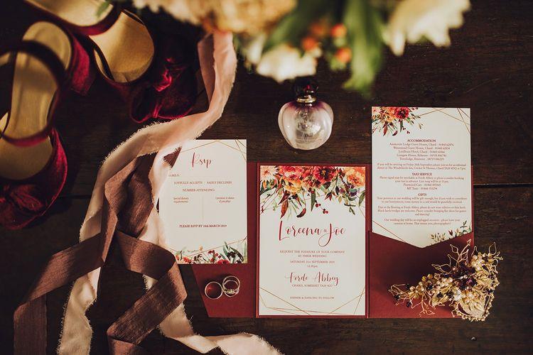 Autumnal wedding stationery and invitation designs