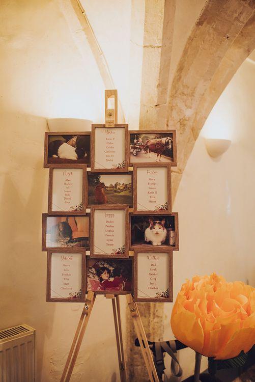 Photograph wedding seating chart