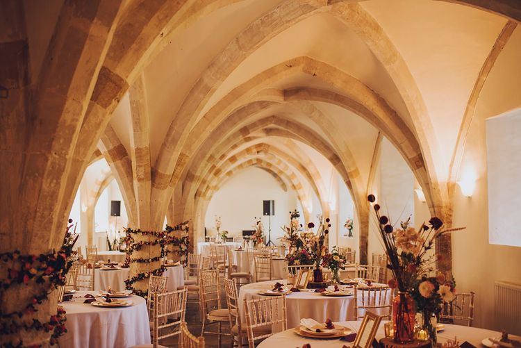 Wedding breakfast at Forde Abbey