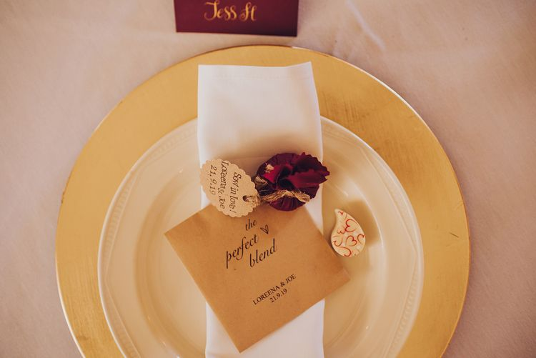 Wedding favours for Autumnal wedding