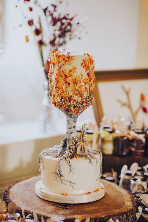 Wedding cake design for September wedding
