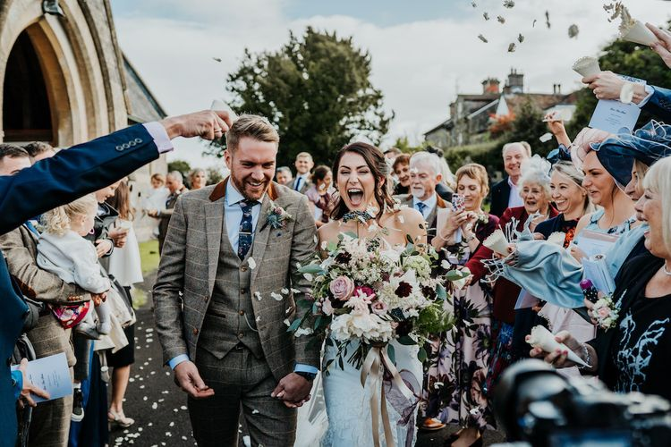 Confetti moment by Ryan Goold Photography