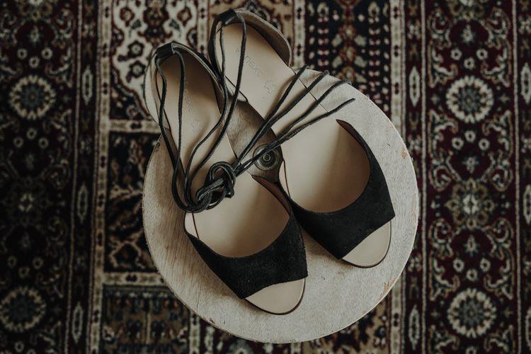 Next Flat Lace up Sandals