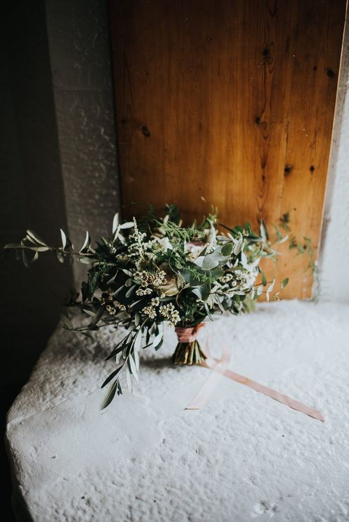 Wild Flower Bouquet Tied with Ribbon