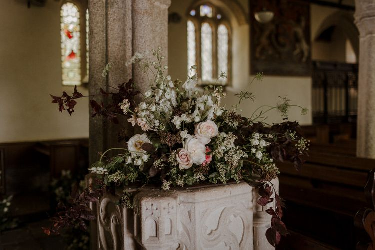 Church Wedding At The Boconnoc Estate // Boconnoc Cornwall Weekend Wedding With Bride In Halfpenny London & Groom In Paul Smith With Images From The Curries