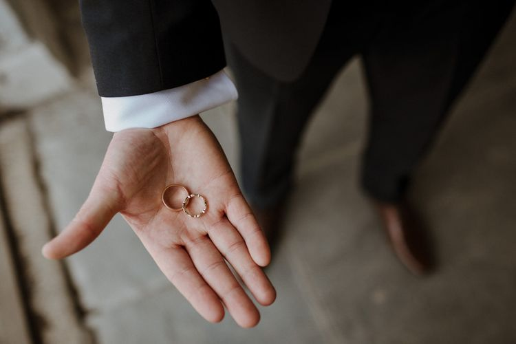 Wedding Rings // Boconnoc Cornwall Weekend Wedding With Bride In Halfpenny London & Groom In Paul Smith With Images From The Curries