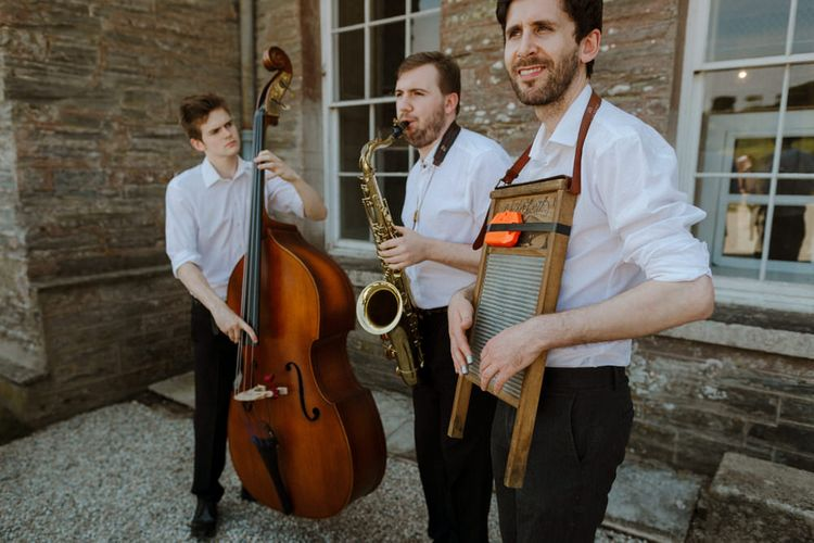 Jazz Trio For Wedding // Boconnoc Cornwall Weekend Wedding With Bride In Halfpenny London & Groom In Paul Smith With Images From The Curries