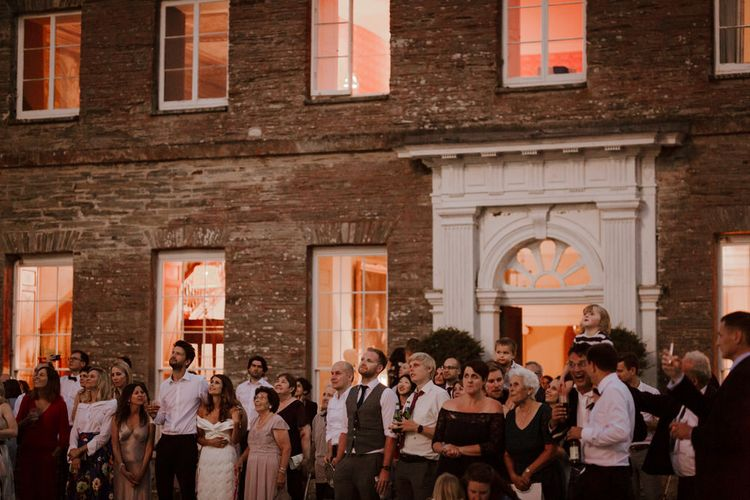 Fireworks At Wedding // Boconnoc Cornwall Weekend Wedding With Bride In Halfpenny London & Groom In Paul Smith With Images From The Curries