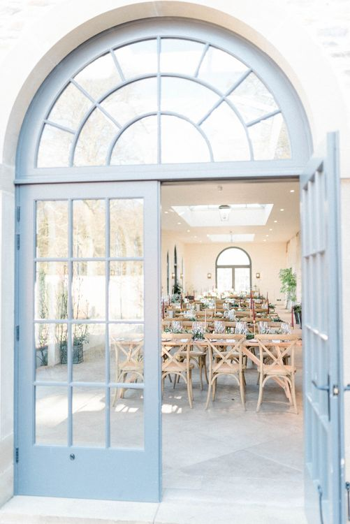 Large open windows at The Fig House, Middleton Lodge
