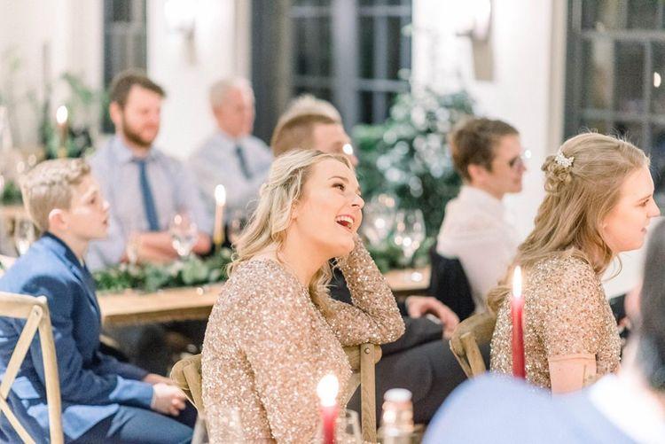Wedding reception speeches at Middleton Lodge