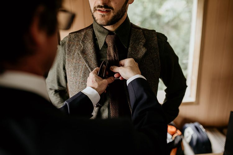 Groom preparations for September wedding
