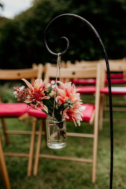 Wedding flowers for September wedding ceremony