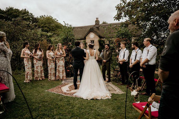 Outdoor wedding ceremony in Devon
