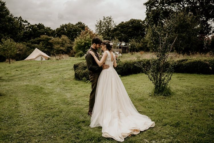 Ivory and Lace wedding dress for country wedding