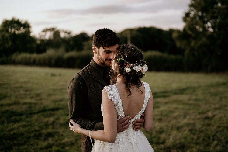 Flower headpiece for bride